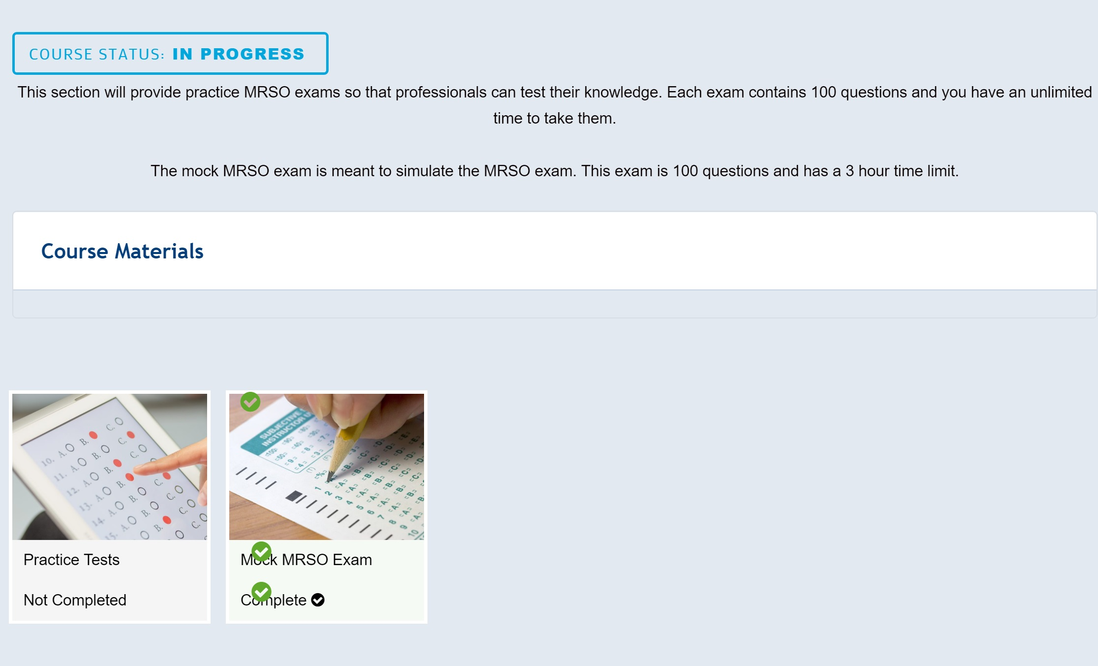 MRSO Online Training Exam l Prepare For MRI Education - Sign Up Today